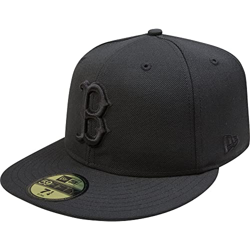 New Era Boston Red Sox Black On Black 59fifty Fitted Cap Limited Edition 03e3580c2aa2e