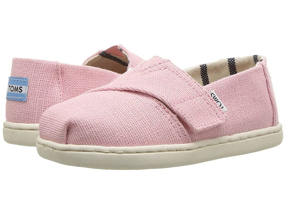 TOMS Kids Venice Collection Alpargata (Infant/Toddler/Little Kid) (Powder Pink Heritage Canvas) Girl