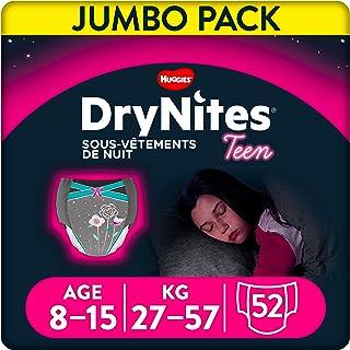 DryNites jednorazowa ch👕onna bielizna dziewczæt, 52 sets (4 x 13 set)