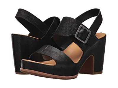 Kork-Ease San Carlos (Black Full Grain Leather) High Heels