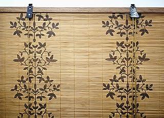 Solagua 6 Modelos 14 Medidas de estores de bambú Cortina de Madera persiana Enrollable (90 x 135 cm, Estampado)