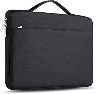 ZINZ Maletín 15 15,6 16 Funda Portátil Impermeable para 15-16 Pulgadas MacBook Pro 16 15, Surface Laptop 3 15,XPS 15 Laptop Ultrabook Netbook, DELL HP Lenovo Acer ASUS y más, Negro