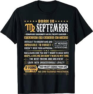 September Birthday Gifts - Born In September Virgo T-Shirt