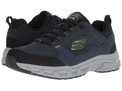 SKECHERS Oak Canyon (Navy/Lime) Men