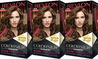 Revlon Colorsilk Buttercream Hair Dye, Light Natural Brown, Pack of 3