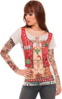 Women's 3D Photo-Realistic Ugly Christmas Sweater Long Sleeve T-Shirt