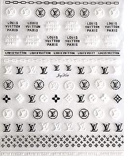 JoyKott Luxury Brand 3D Nail Art Sticker Large Sheet LV