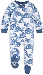Bees Bees Baby - Unisex Baby Sleep & Play ، لباس خواب ارگانیک ، NB - 9M تک قطعه Zip Up Foot PJ Jumpsuit
