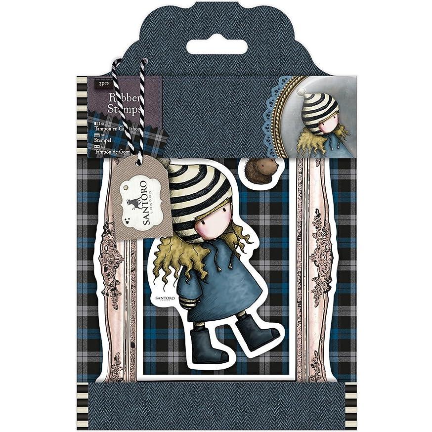 Rubber Stamps - Santoro Tweed - The Friendly Hedgehog
