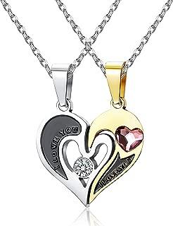 5 piece heart puzzle necklace
