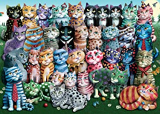 Ravensburger Cat Family Reunion 1000 Piece Jigsaw Puzzle for Adults – Every Piece is Unique, Softclick Technology Means Pieces Fit Together Perfectly
