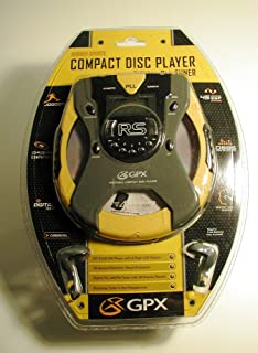 GPX Compact Disc Player - Rugged Sports Yellow