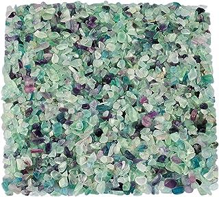 comprar comparacion Piedra natural triturada KYEYGWO para decoración, grava de cristal de cuarzo para jardín, 1 libra (460 g)