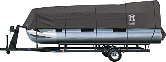 Classic Accessories StormPro Heavy Duty Pontoon Boat Cover, Charcoal, Fits 21' - 24' L x 102
