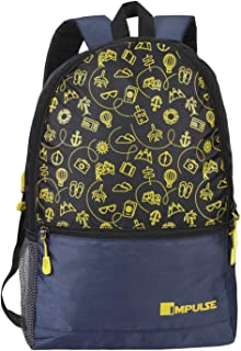 Impulse 30 Ltrs Yellow Casual Backpack (Pathway 30 litres Yellow)