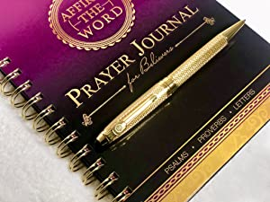 Affirm The Word Prayer Journal for Believers w/ Gold Engraved Pen- Scripture Devotional, Bible Study Journal, Devotional Journal, Prayer Journal for Women, Christian Gift