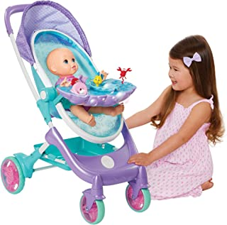 My Disney Nursery Musical Bubble Baby Doll Stroller Inspired by The Little Mermaid, 4-in-1 Feature Doll Stroller, Forup to...