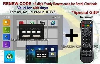 IPTV A2 HTV Brazil Brailian TV Box Renew Code Activation Code for A1//A2// HT //IPTV 5 6 Brazilian IPTV TV Box Code Subscription 16-Digit Renew Code One Year