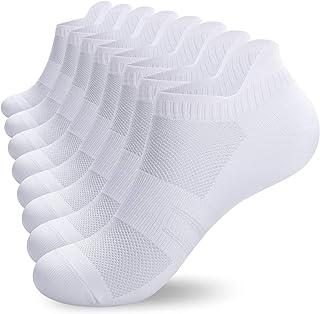 coskefy Sneaker Socken Herren-Laufsocken Damen aus Baumwolle 8 Paar Unsichtbare (Größe 35-40) Kurz Rutschfest Lässig Atmun...
