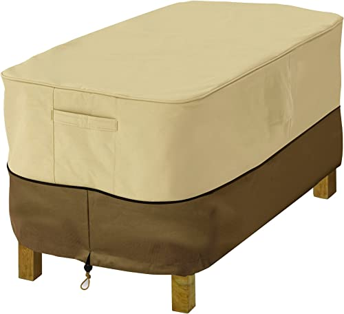 Classic Accessories 72912 Veranda Water-Resistant 38 Inch Rectangular Patio Ottoman/Side Table Cover,Large