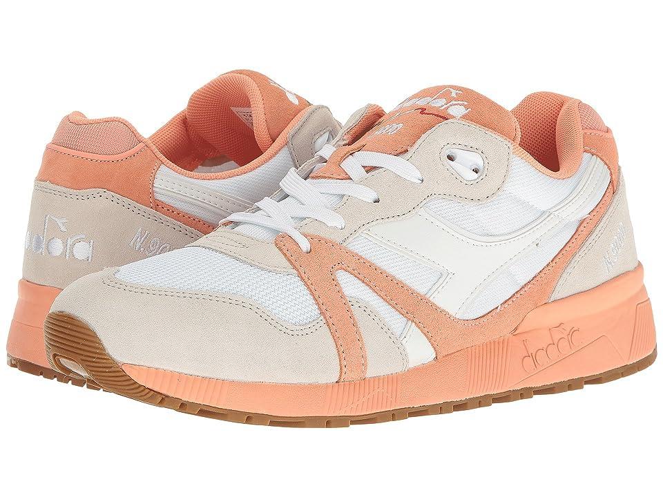Diadora N9000 III (White/Peach Pink) Athletic Shoes