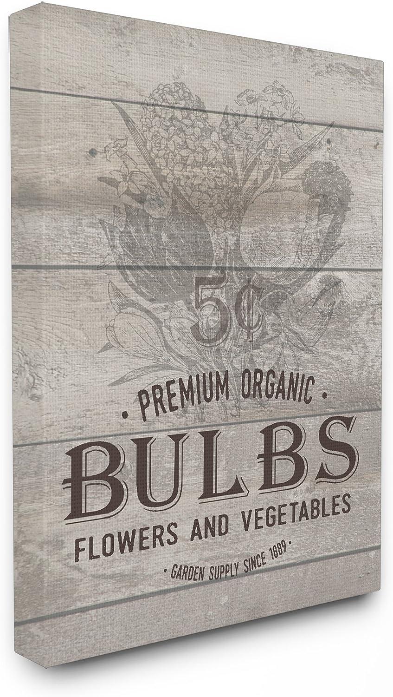 The Stupell Home Decor Collection Premium Organic Bulbs Vintage Sign