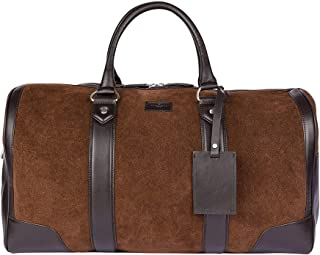 Hackett Hombres suede swanson holdall Brown