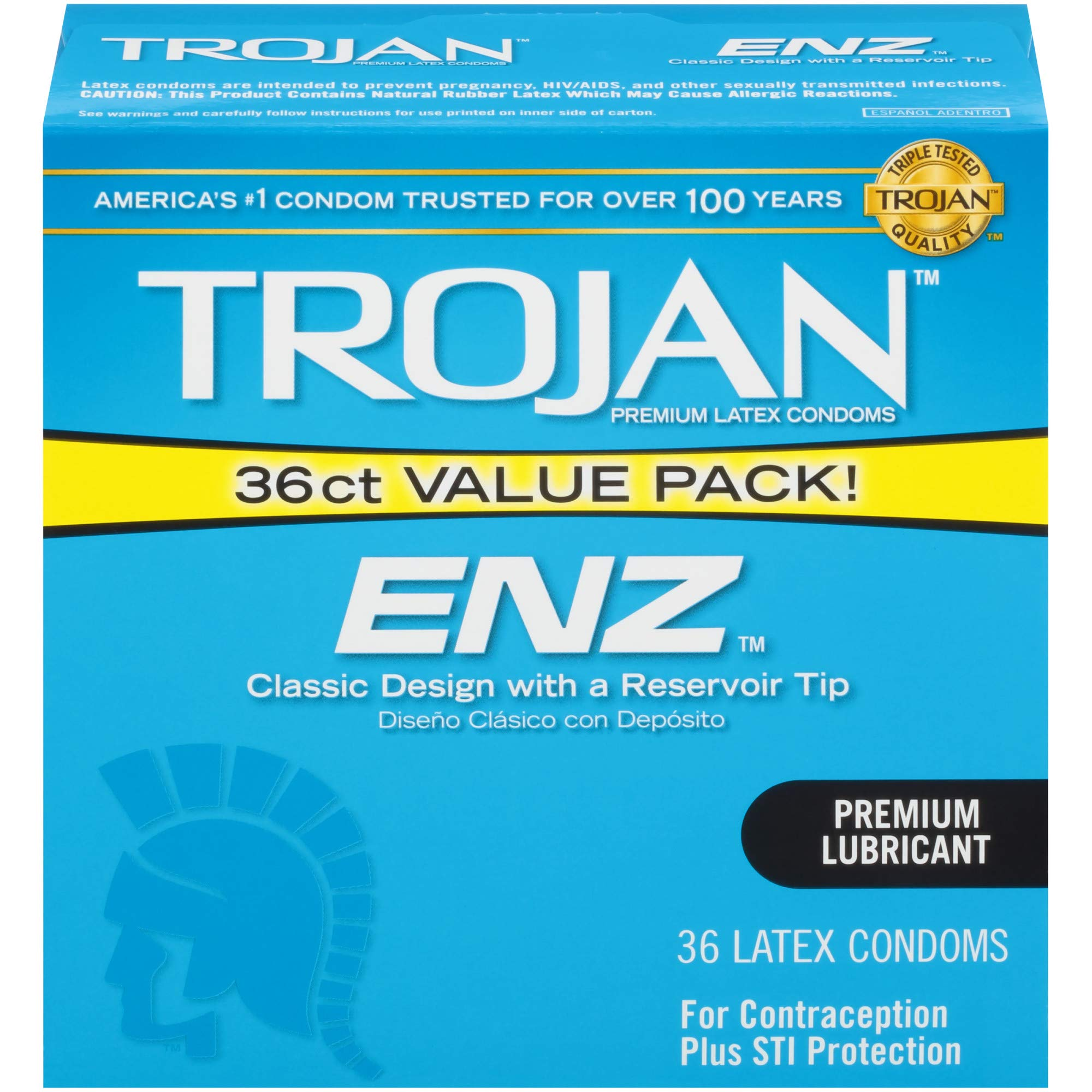 Trojan ENZ Lubricated Condoms 36ct