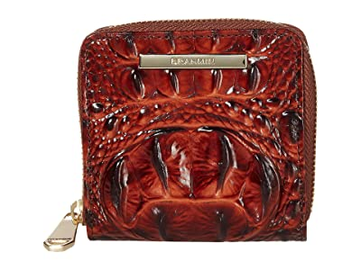 Brahmin Melbourne Mini Suri Wallet (Pecan) Wallet Handbags