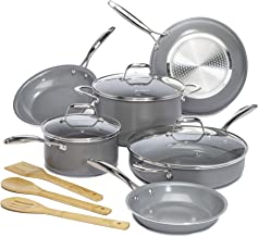 12 pc Goodful Cookware Set - Gray