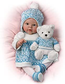 """The Ashton-Drake Galleries 18"""" Sherry Rawn Lifelike Baby Doll with Touch Activated Plush Bear"""