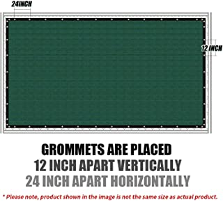 Amgo Custom Made 5' x 20' Green Fence Privacy Screen Windscreen,with Bindings & Grommets Heavy Duty for Commercial and Residential 90% Blockage, Cable Zip Ties Included (Available for Custom Sizes)
