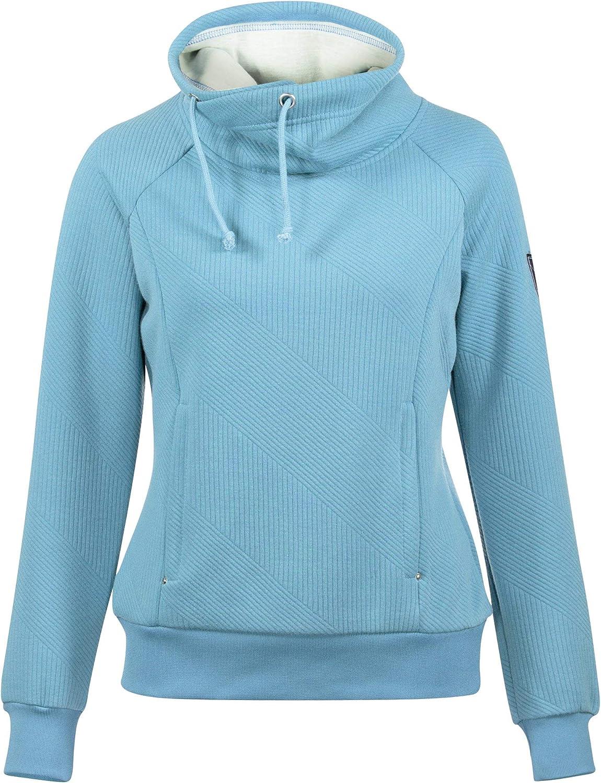 Horze Gwen Women's Deluxe Sweatshirt Blue Outstanding Delphinium 38