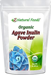 Organic Agave Inulin Powder - All Natural Fiber Supplement - Prebiotic Superfood for Drinks, Smoothies and Recipes - Great...