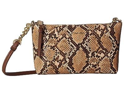 Calvin Klein Hayden Python Crossbody (Natural Snake) Cross Body Handbags