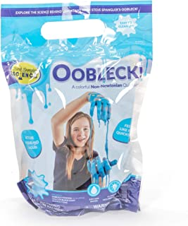 Steve Spangler Science Oobleck Mix, 16 oz Powder Packets, Blue Slime – Science Kits for Kids, Safe, Non-Toxic, Environmentally Friendly, Encourages Creative STEM Learning for Classrooms or Home