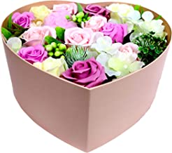 Integis (TM) Multicolour Heart-Shaped Artificial Flower Box/Bouquet for Girlfriend Wife for Valentine's Day Mother's Day Birthday Anniversary X9V (Pink)