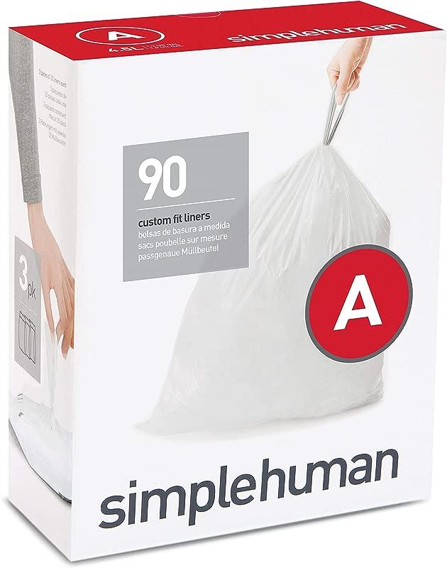 Simplehuman Code A Custom Fit Drawstring Trash Bags 4 5 Liters 1 2 Gallons 90 Count
