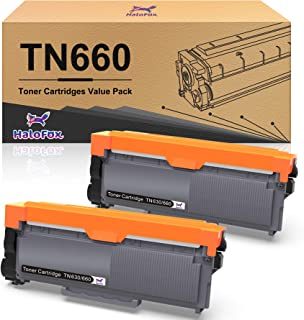 HaloFox Compatible Toner Cartridge Replacement for Brother TN660 TN630 DCP-2560DN MFC-L2707DW MFC-L2700DW HL-L2380DW DCP-L...