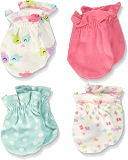 Baby Girls' 4-Pair Mittens