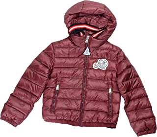 Moncler Kids's XAVIERE Burgundy Down Hooded Parka Jacket Moncler Sz 5A US 6Years