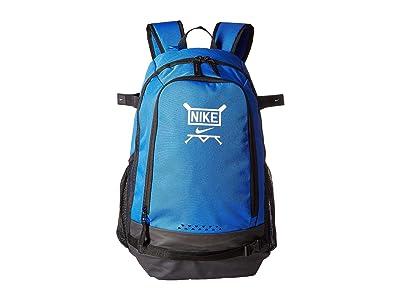 Nike Kids Vapor Clutch Bat Baseball Backpack (Game Royal/Black/White) Backpack Bags
