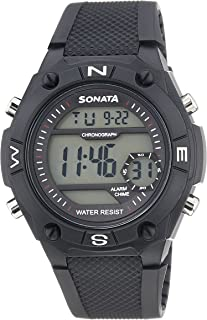 Sonata Superfibre Digital Grey Dial Men's Watch -NK77033PP04