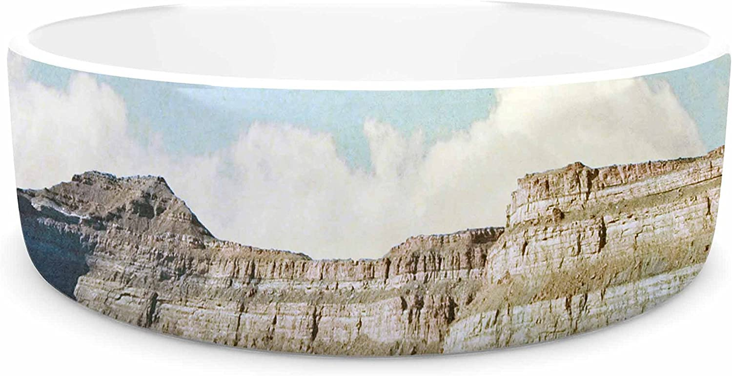 KESS InHouse Sylvia Coomes Out West  Brown Photography Pet Bowl, 7
