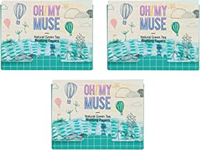 [Oh!My Muse] Natural Green Tea Oil Absorbing Sheets, Blotting Paper, 50 count (3 Packs)