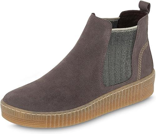 Gabor 73.731.13 - Stiefel Plisadas de Cuero damen, Farbe grau, Größe 41 EU   7.5 UK