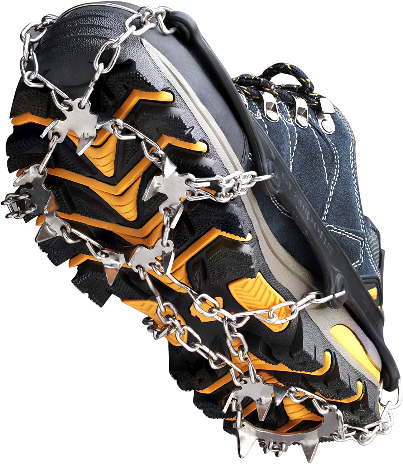 SALENEW very popular Crampons Ice Cleats Mesa Mall Traction Snow Grips for Boots Women Shoes Me