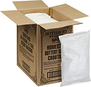 Rothbury Farms Garlic Butter Homestyle Croutons (2.25lbs Bags, Pack of 5)