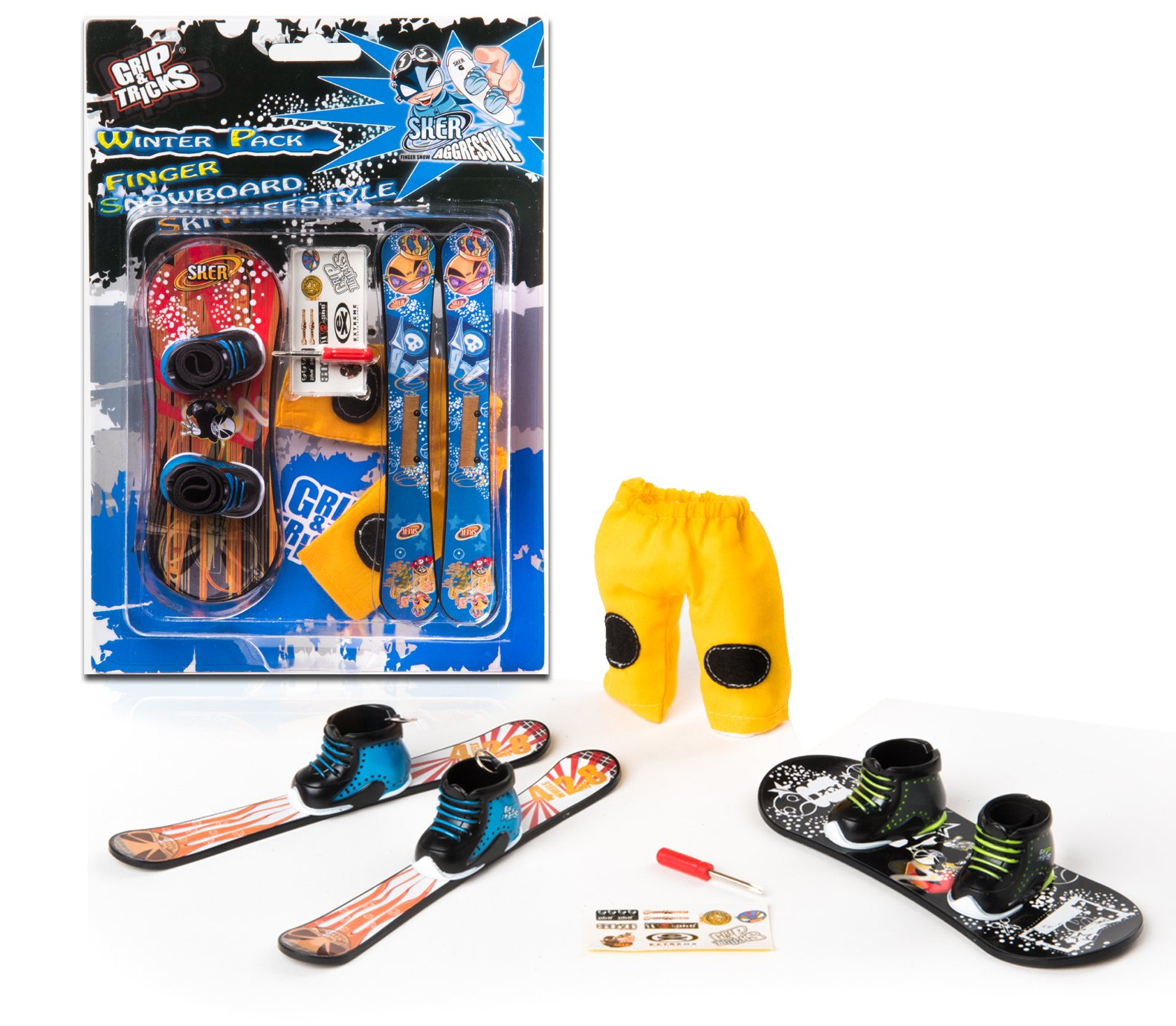 Grip & Tricks - Finger Snowboard Ski Freestyle - Pack1 Winter ...