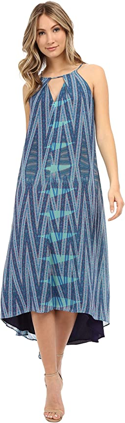 Printed Keyhole Maxi Dress